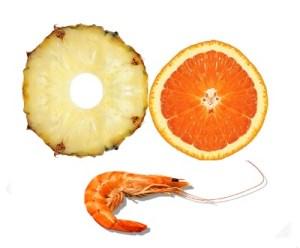 Ensalada de piña y naranja