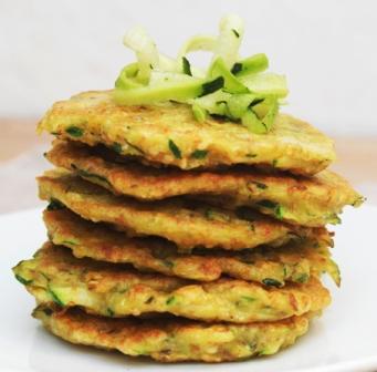 Tortitas de verdura para diferentes intolerancias