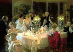 """Jules-Alexandre Grün (1868-1934): """"Sobremesa"""". Observador minucioso, hábil y exquisito en la acentuación del ambiente y de los gestos. Elegancia en las personas y en las cosas."""