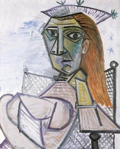 Pablo Picasso (1881–1973) Mujer sentada en un sillón (Femme assise dans un fauteuil), 1941