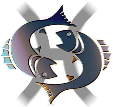 Piscis. Este signo del Zodiaco ha sido utilizado en muchas partes como símbolo de la reencarnación, del círculo que gira de modo que el punto de partida viene a ser término de llegada.