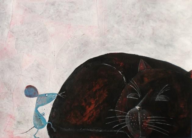 Stefan Turk, Ilustracion gato y ratón