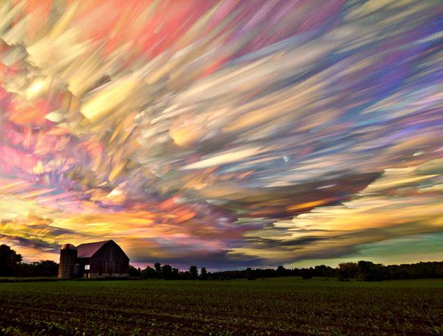 cielo de colores imposibles