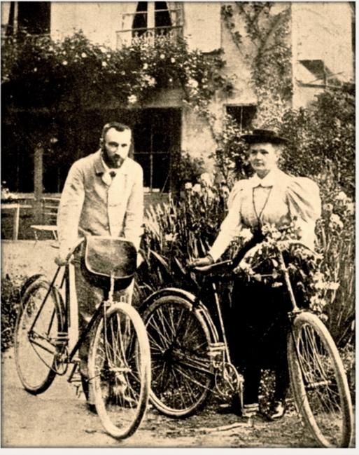 El matrimonio Curie hacía grandes marchas en bicicleta