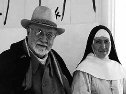 Matisse junto a la Hermana Jacques-Marie.