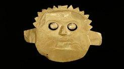 Mascara funeraria © Museo del Oro - Banco de la Republica, Colombia.