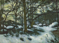 Nieve fundiéndose en Fontainebleau, 1879-80. The Museum of Moder Art, Nueva York. Donación de André Mayer, 1961