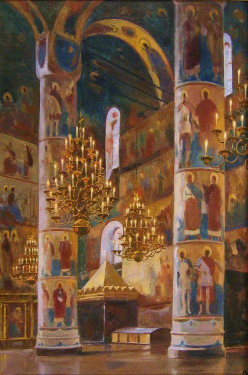 Interior Catedral de la Asunción, Moscú.