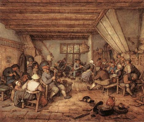 adriaen-van-ostade-feasting-peasants-in-a-tavern