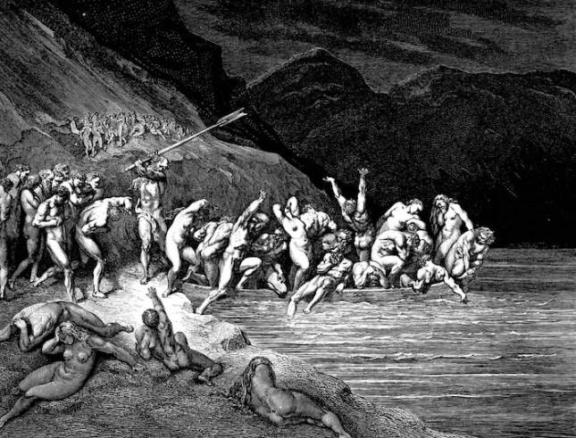 """En su descripción del infierno, donde hordas de diablos martirizan a los pecadores, Dante despliega una espeluznante fantasía, de ahí el adjetivo """"dantesco"""". Foto: Wikipedia"""