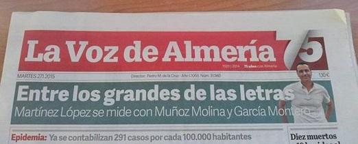 Fernando Martínez López compitió con Antonio Muñoz Molina y García Montero por el Premio Andaluz de la Crítica