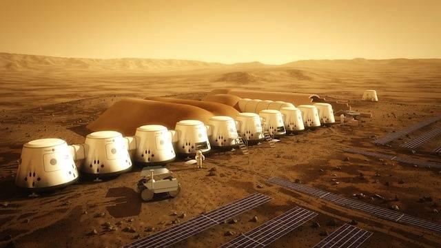 Así se vería el primer asentamiento humano en Marte.