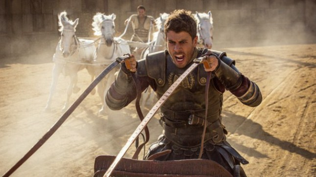 Toby Kebbell plays Messala Severus and Jack Huston plays Judah Ben-Hur in Ben-Hur from Paramount Pictures and Metro-Goldwyn-Mayer Pictures.