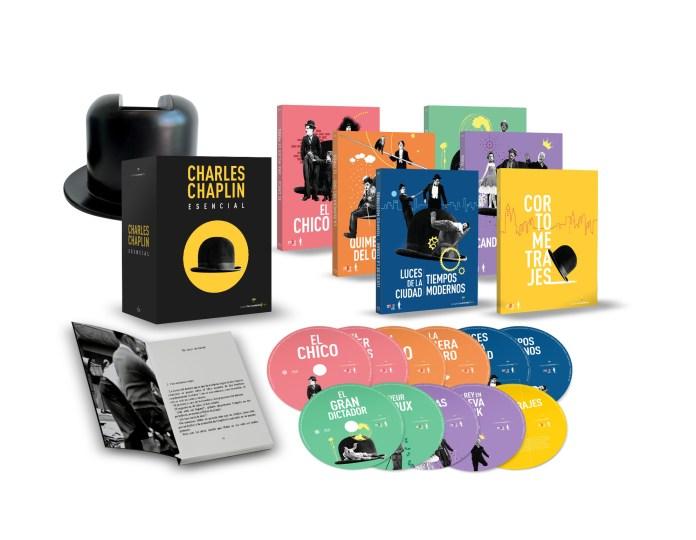Pack coleccionista limitado en Blu-ray de 'Charles Chaplin: Esencial'. (Fuente: A Contracorriente Films)