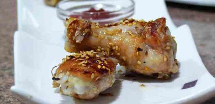 Alitas de pollo agridulces