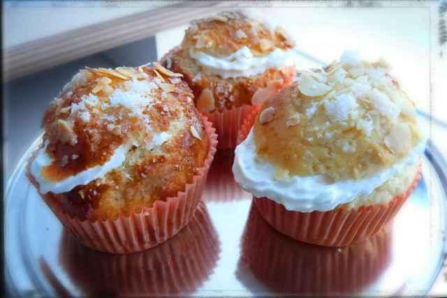 Cupcakes de roscón de reyes, con los mismos ingredientes y preparada en thermomix