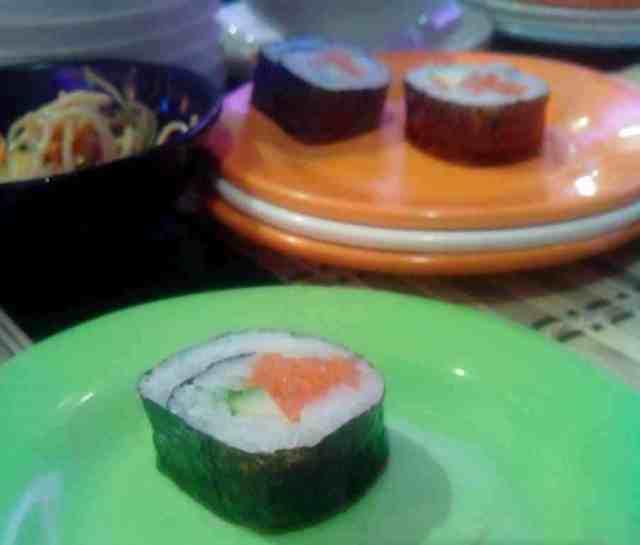 Makizushi o makis del restaurante Kintaro