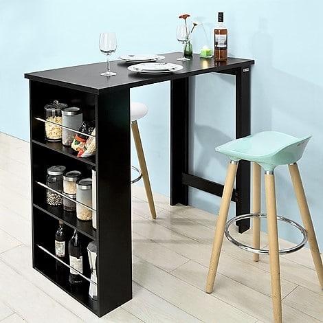mesa de bar con almacenaje