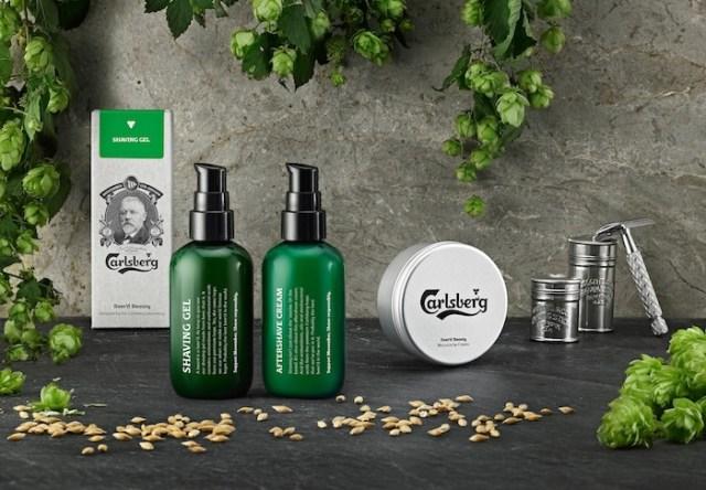 Auténticamente masculino: la gama Carlsberg de productos de belleza. Foto: Carlsberg