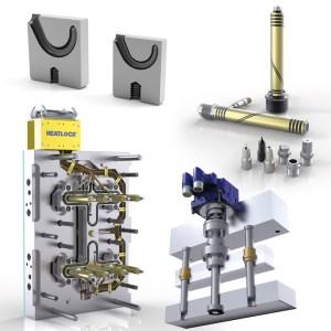i-mold at Fakuma 2017: Space-saving gate inserts, hot runner nozzles and linear actuators; time-saving hot runner halves