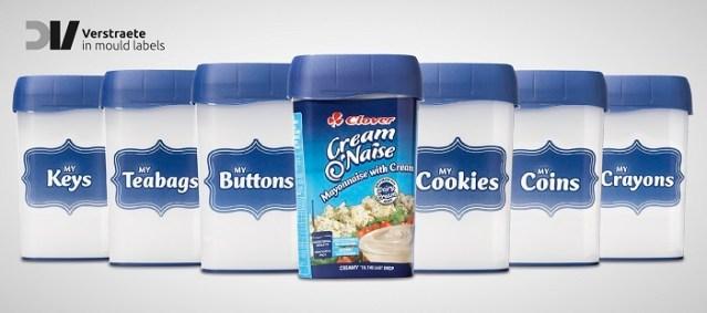 CREAM O'NAISE De CLOVER seduce a los clientes con su envase con Etiquetado En Molde De Barrera