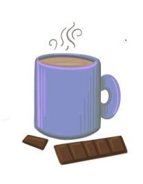 coffee mug and chocolate