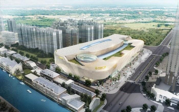 Hanjie Wanda shopping. Vista aérea-aerea