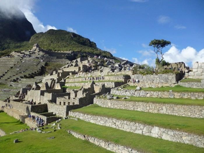 Urbanismo escalera de rocas. Machu Picchu