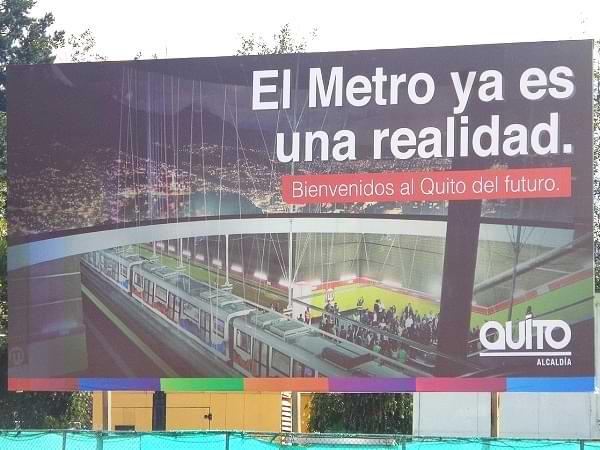 Metro de Quito - De David Adam Kess - Trabajo propio, CC BY-SA 4.0, https://commons.wikimedia.org/w/index.php?curid=78438176