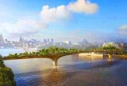 Puente - Jardín sobre el Río Támesis