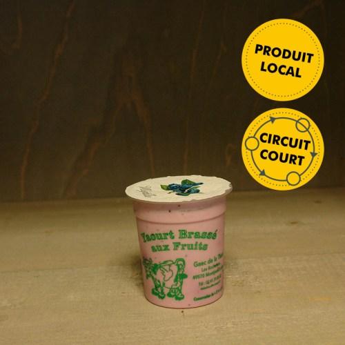GAEC de la Thau - yaourt brassé - myrtille