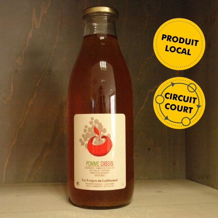 Les Vergers de Guillaumai - jus de pomme cassis 1L