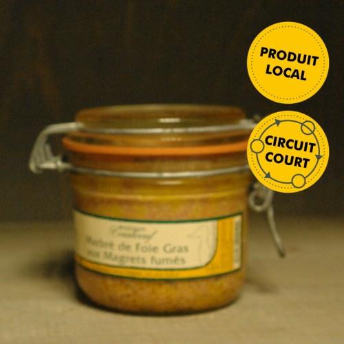 Maison Coraboeuf - marbré de foie gras au magrets fumés