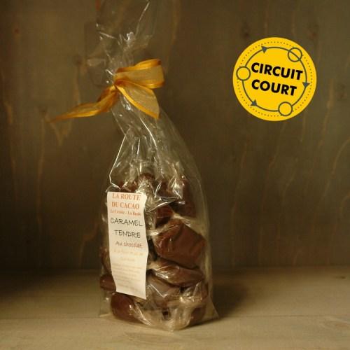 La Route du Cacao - caramel tendre chocolat à la fleur de sel de Guérande 250gLa Route du Cacao - caramel tendre chocolat à la fleur de sel de Guérande 250g