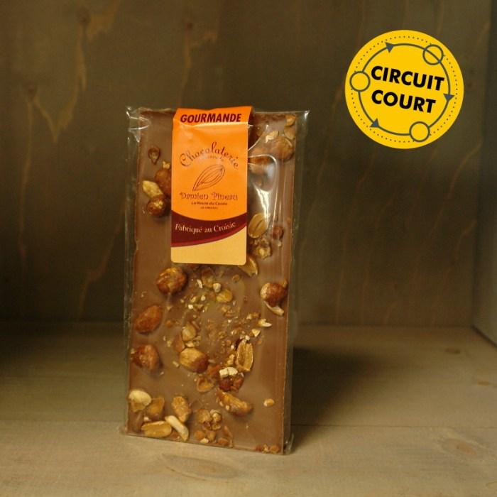 La Route du Cacao - tablette de chocolat gourmande lait éclats de praline 90g
