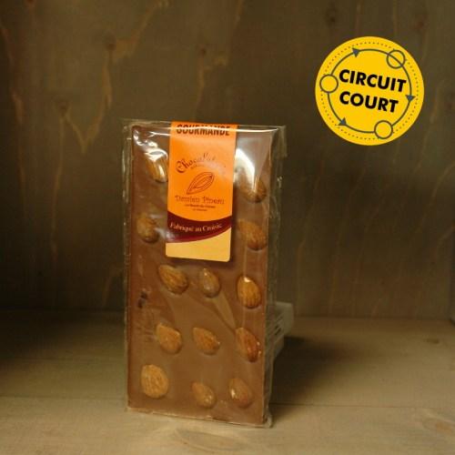 La Route du Cacao - tablette de chocolat gourmande lait amande 90g