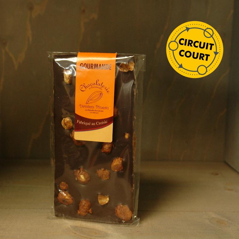 La Route du Cacao - tablette de chocolat gourmande noir éclats de praline 90g