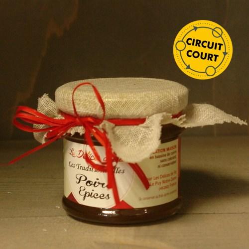 Les Délices de Flo - les traditionnelles - poire épices 130g