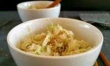 Noël gourmand & vegan : Salade japonaise de chou au sésame
