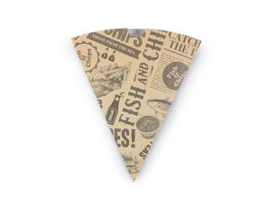 Newspaper print chip cones