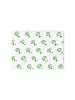 350 x 225mm greaseproof sheet - Green Tree