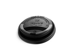 89-Series CPLA hot cup lid, black