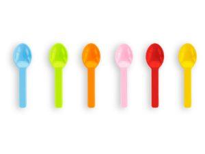 3in PLA tutti frutti ice cream spoons