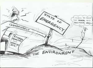 State of emergency on the environment