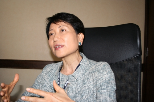 Naoko Ishii, CEO and Chairperson of the GEF. GEF has announced new investments in various ocean conservation issues