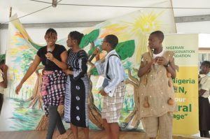 Pupils displaying during the Flora and Fauna celebration.