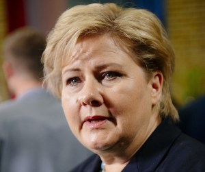 Prime Minister of Norway, Erna Solberg  Liberia, Norway launch climate and forest partnership Erna Solberg 300x251