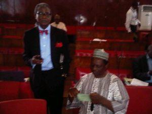 Prof Chidi Ibe (standing)
