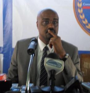 Guinean government spokesman, Damantang Albert Camara  Journalists killed while covering Ebola education campaign in Guinea calb6340damantang JPG 291x300
