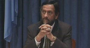 Rajendra Pachauri  IPCC concludes AR5, says climate change threatens irreversible, dangerous impacts R